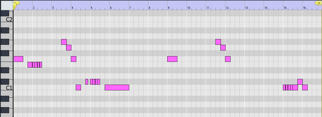 MIDI for hocketed bass