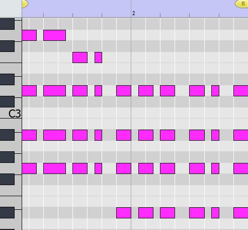 chord layer. midi