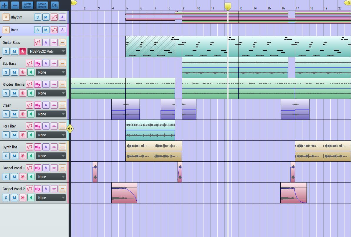 Track arrangement