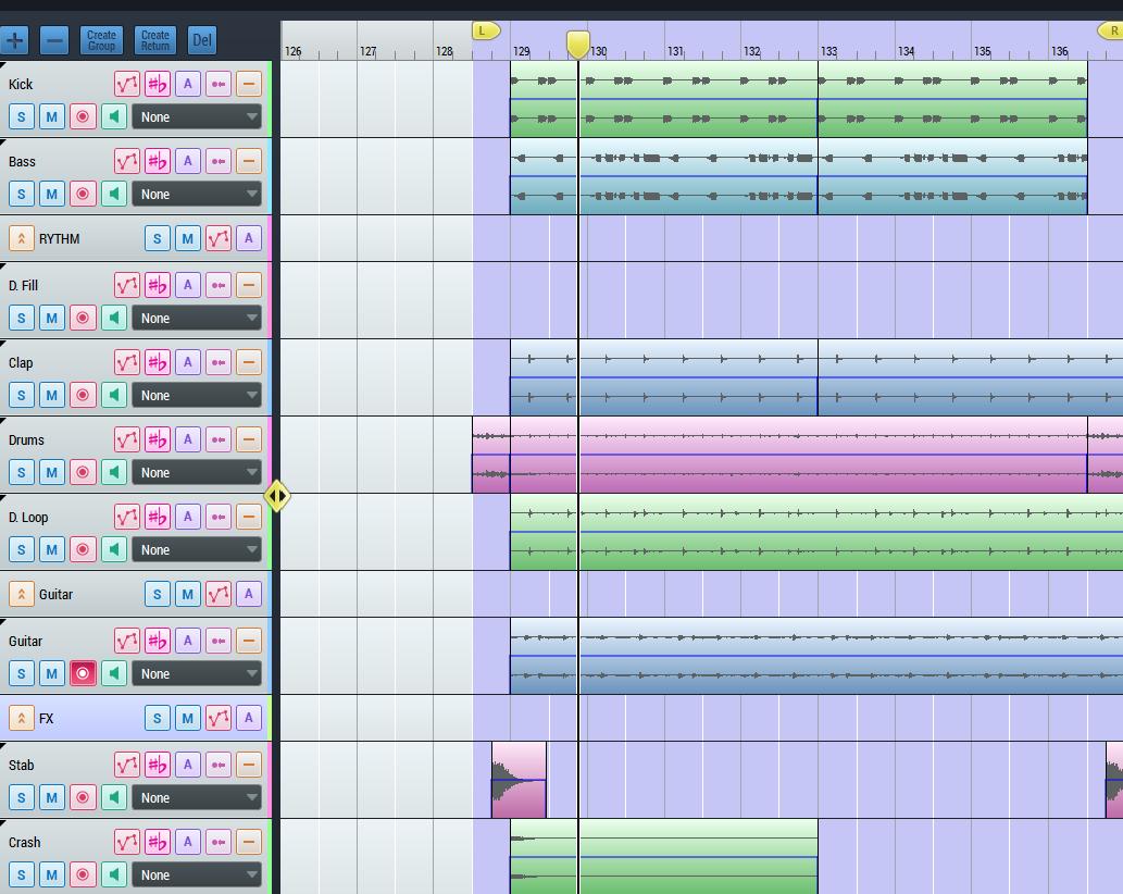 Track arrangement 1