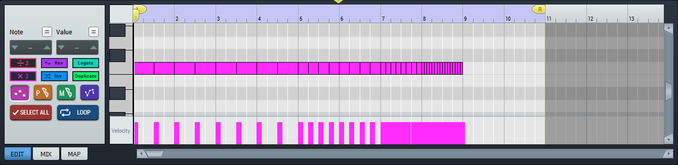 pluck-sound-multiplying-sequence