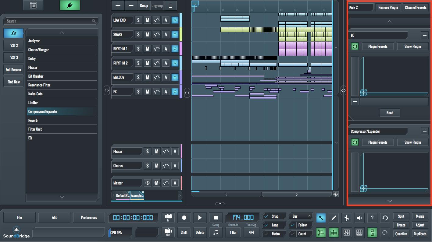 SoundBridge Widgets: Insert Rack Explained