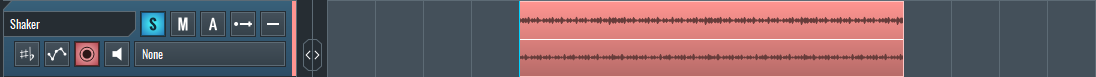 Image of shaker loop in SoundBridge: DAW for Mid-Side EQ article.