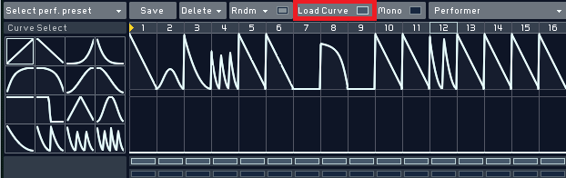 Load curve settings Massive