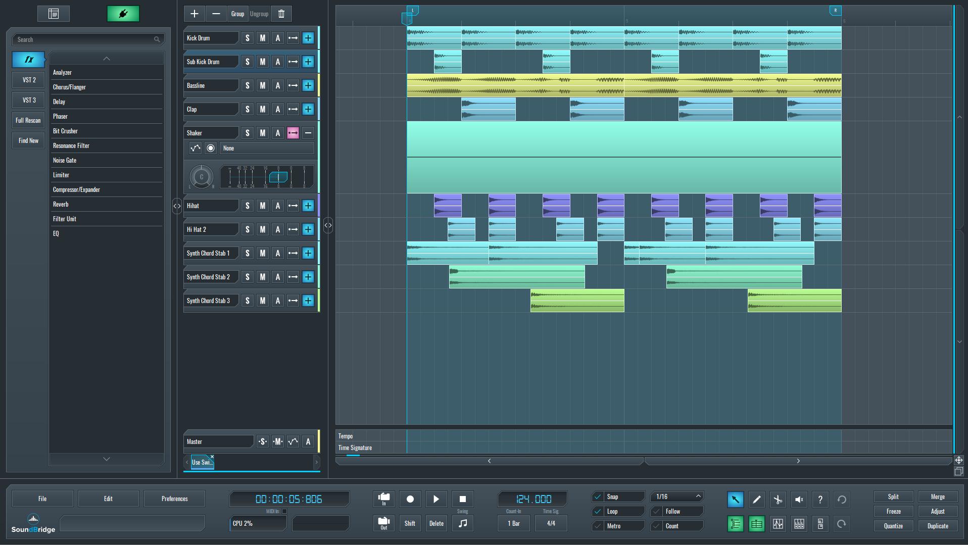 SoundBridge sequence for swing
