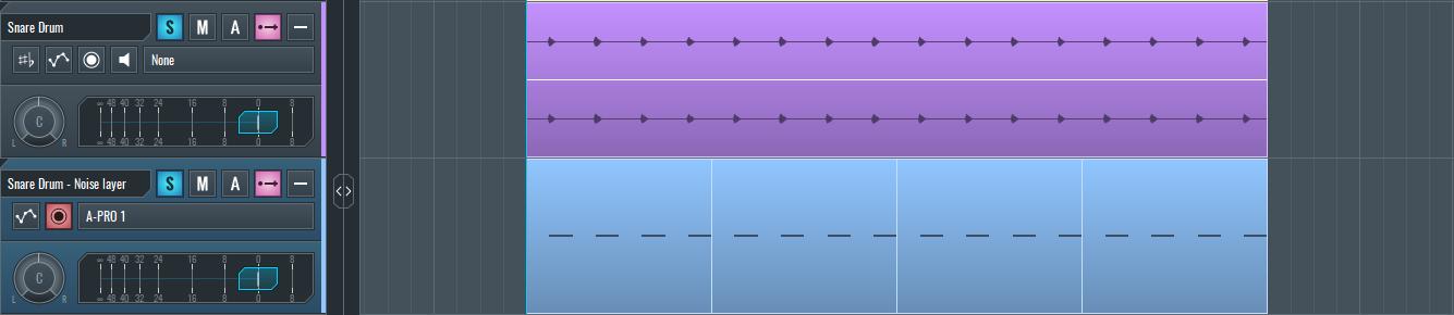 Layering MIDI notes