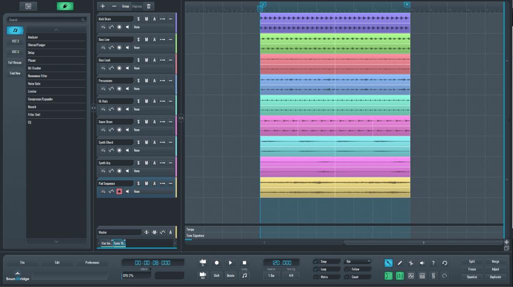Soundbridge sequence for SmartEQ2 processing.