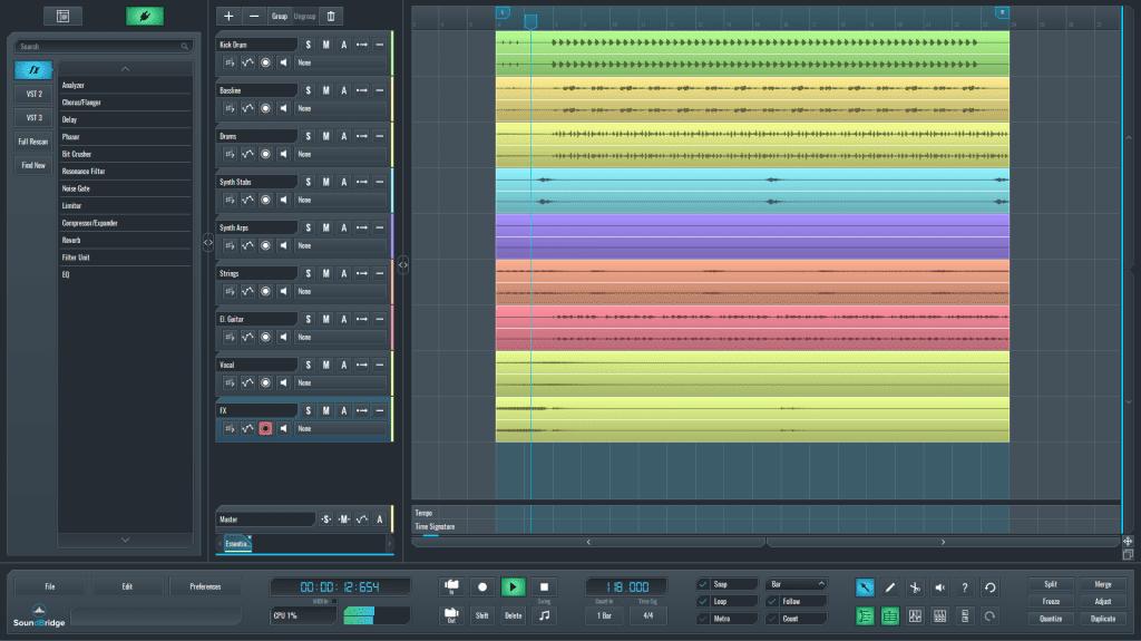Mastering session SoundBridge