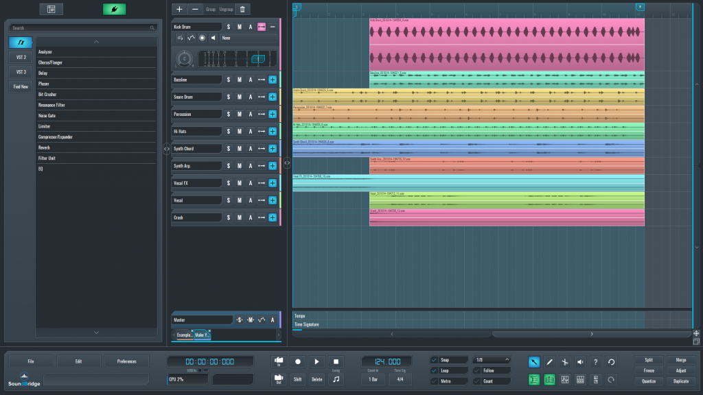 SoundBridge sequence for kick drum layer