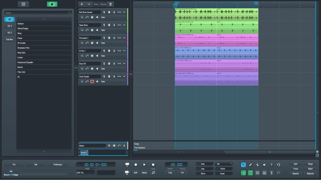 SoundBridge Hi-hat width session
